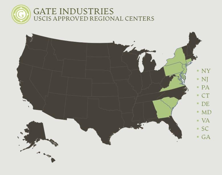 USA regional map